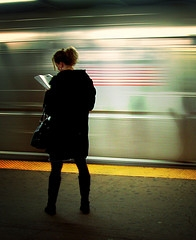 On the Platform, Reading via Flickr, by moriza