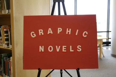 Graphic Novel Sign, via Flickr by Kraemer Family Library
