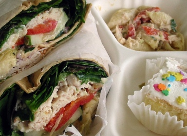 Greek Turkey Wrap by Lynn Gardner, via Flickr