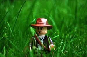 LEGO Indiana Jones in Grass by Rob Jones, via Flickr.