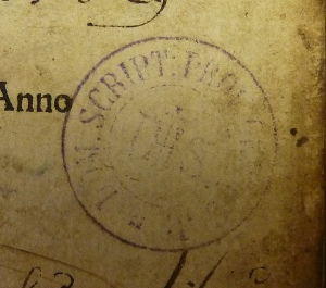 Jesuit stamp from an unidentified province, by kladcat, via Flickr.