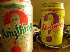 Anything vs Whatever by Foam, via Flickr